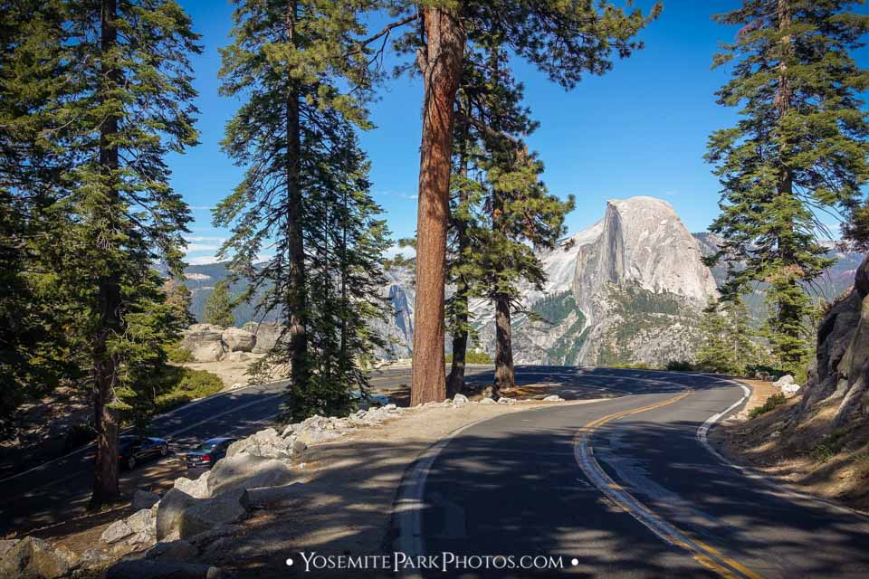 Half Dome in Afternoon Light, On Glacier Point Road - Yosemite Photography