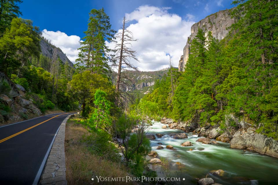 Merced River landscape - Long Exposure