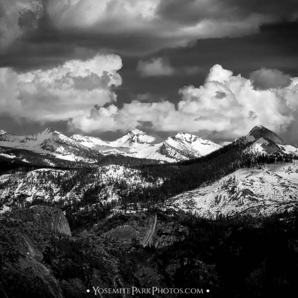 Mt Starr King, Gray Peak, Red Peak, and Merced Peak, B&W - Yosemite Photos by Nathan Allen