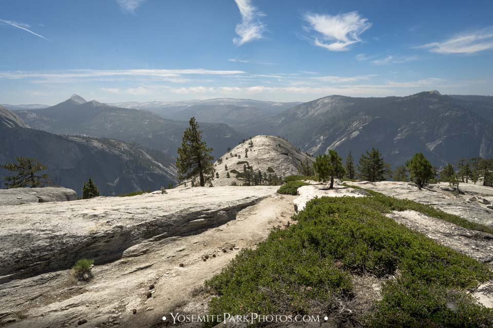 View of Yosemite Valley from North Dome Trail