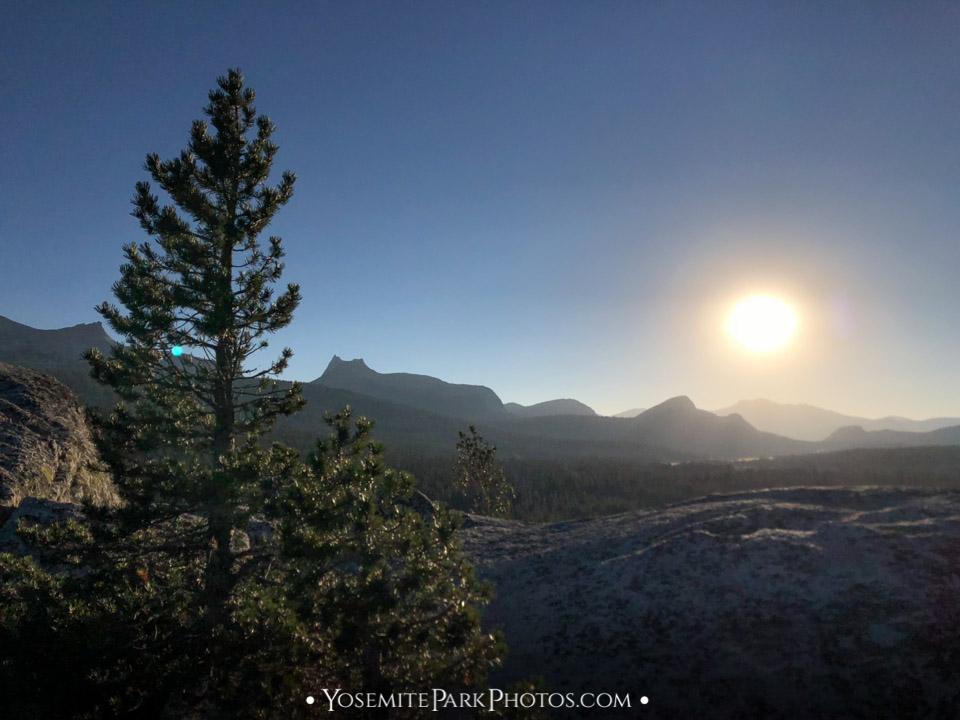 Puppy Dome view of Sunset over Yosemite Valley