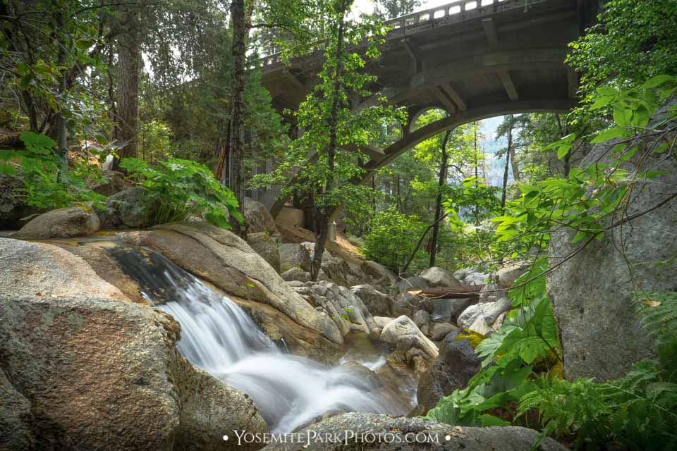 Tamarack Creek Falls Under Cascade Bridge - Long Exposure