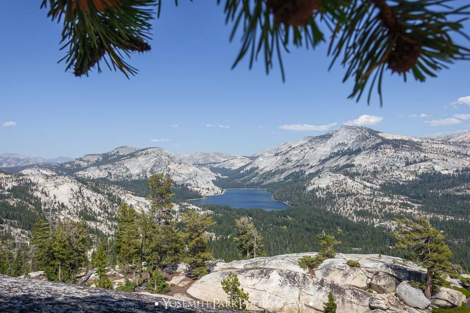 Tenaya Lake view from above Olmsted Point - Yosemite Lakes