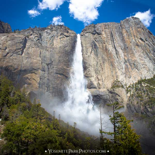Upper Yosemite Falls flowing in May - by Nathan Allen